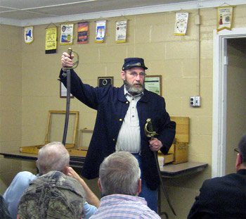 John Davis speaks to Barker Lions about the Civil War